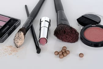 Several assorted cosmetics