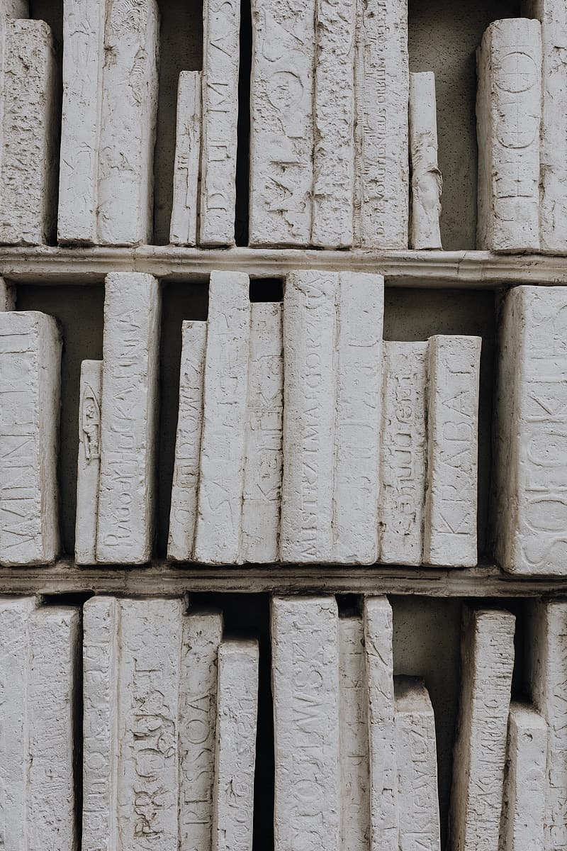 Ancient Greek writings made of stone