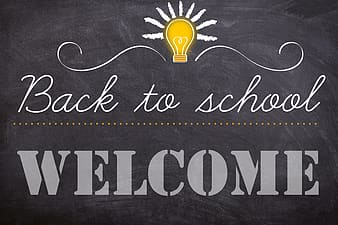 Back to School text poster