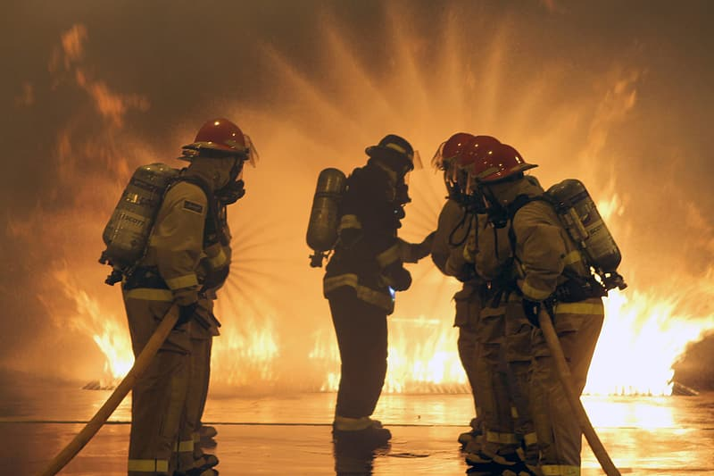 Photo of five fire man