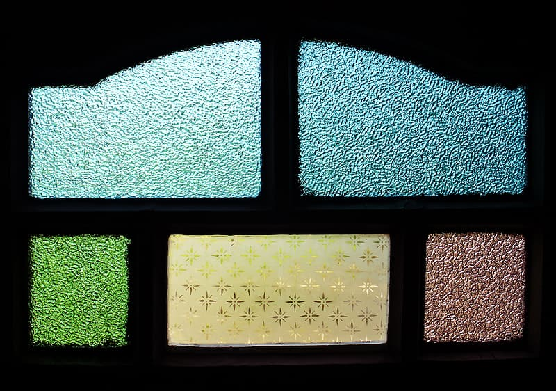 Assorted-color stained glass
