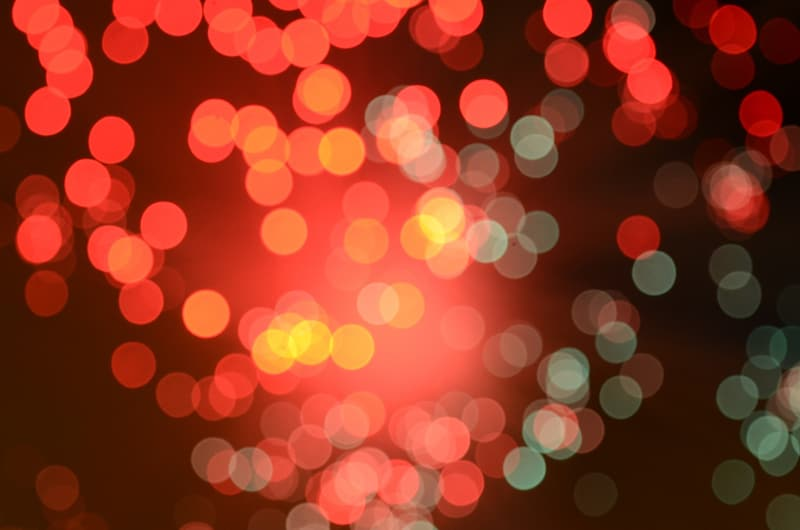 Bokeh photography of red and green lights