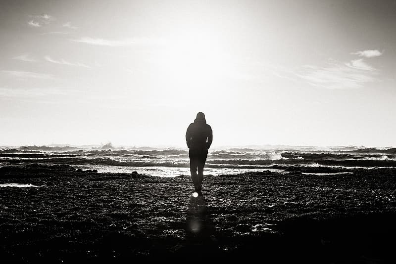 Silhouette photographed of person