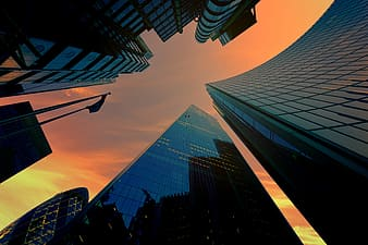 Low angle photography of high rise buildings during daytime