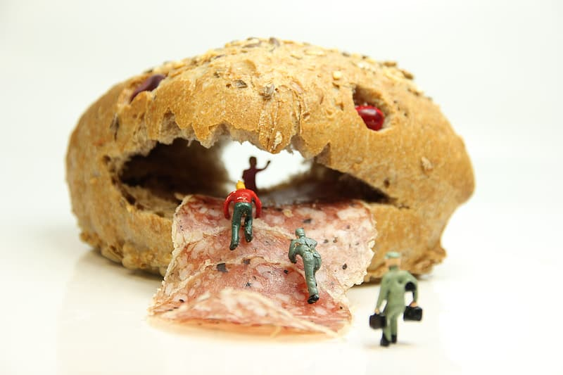 Bread with red and green strap