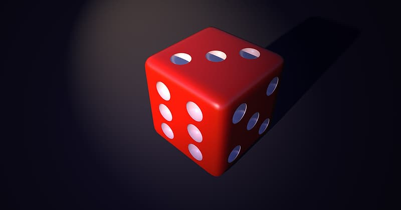 Red and white dice