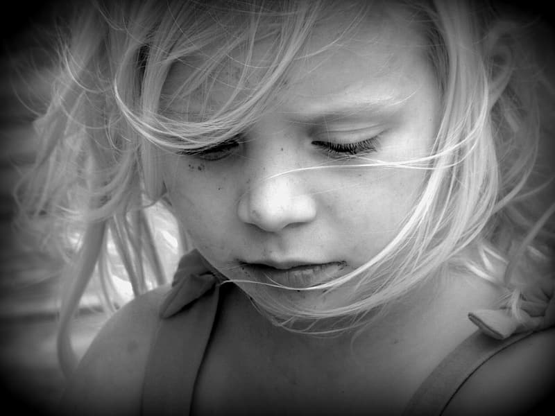 Grayscale photography of girl face