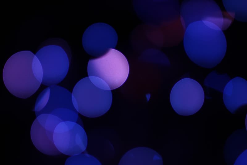 Blue and pink bokeh photo