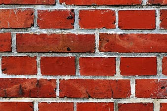 Red and gray wall bricks