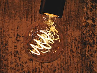 Clear glass bulb with white string lights