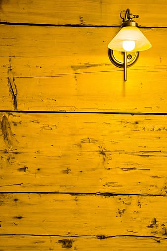 Yellow wall lamp