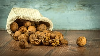 Bunch of brown nuts