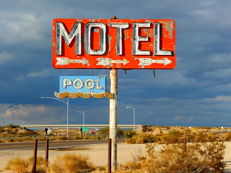 Red and white welcome to fabulous las vegas nevada signage  | Lis'Anne Harris