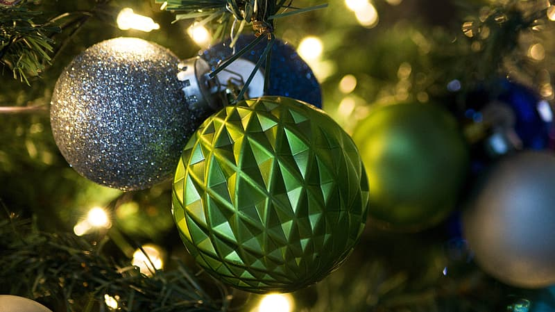 Green and blue christmas bauble | Pikrepo