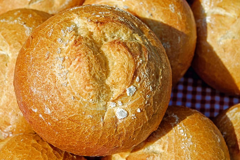 Close-up photography of breads