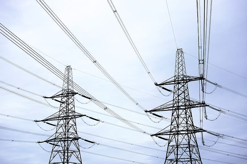 Two black power lines